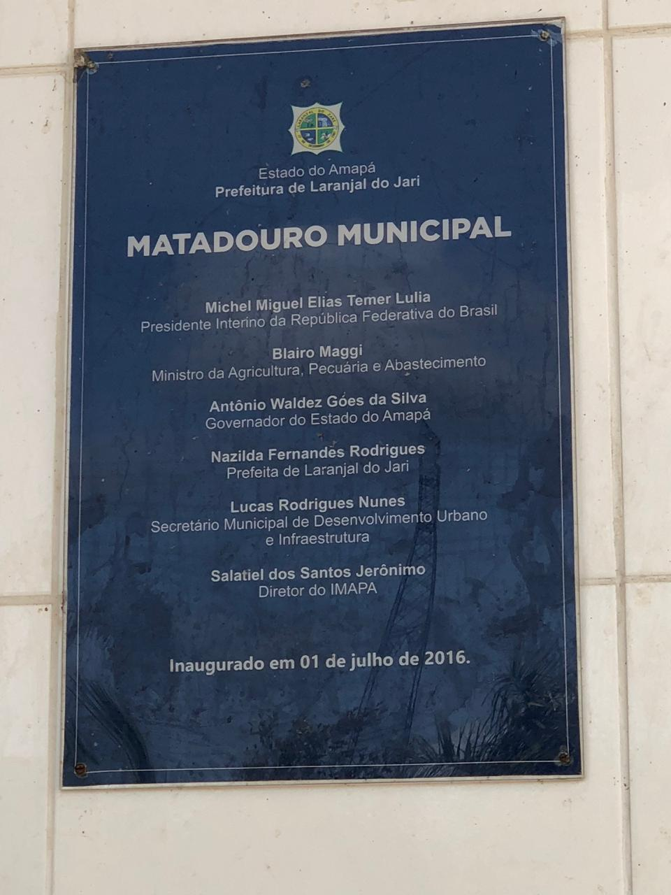 placa amatadouro